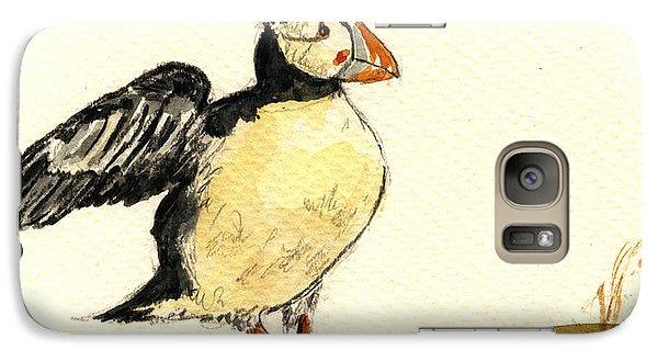 Puffin Galaxy S7 Case - Puffin Bird by Juan  Bosco