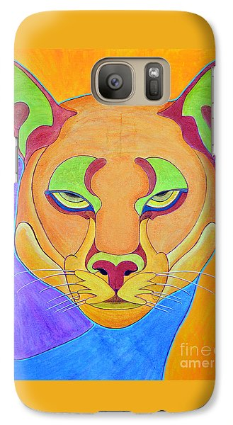 Galaxy Case featuring the painting Puma 1 by Joseph J Stevens