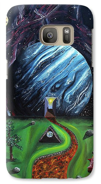 Galaxy Case featuring the painting Quantum Dementia by Ryan Demaree