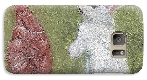 Galaxy Case featuring the painting R Is For Rabbit by Jessmyne Stephenson