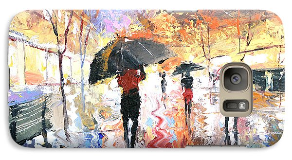 Galaxy Case featuring the painting Rain by Dmitry Spiros