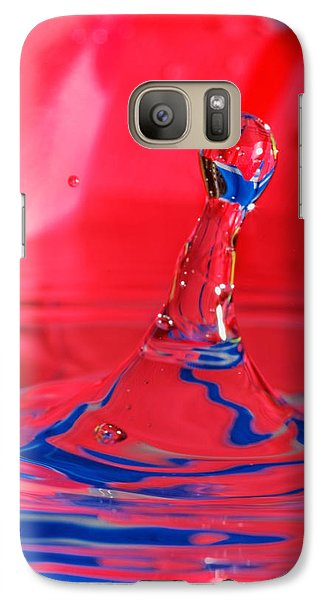 Galaxy Case featuring the photograph Rainbow Drop by Peter Lakomy