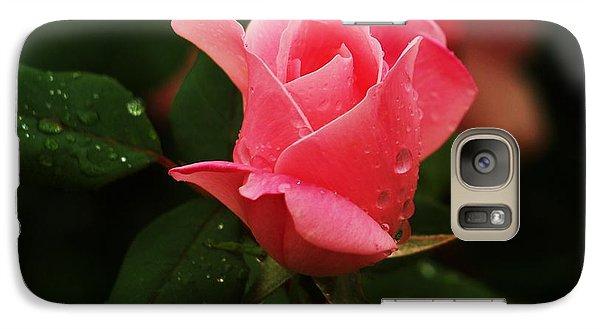 Galaxy Case featuring the photograph Raindrops On Roses by Roseann Errigo