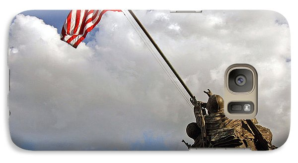 Galaxy Case featuring the photograph Raising The American Flag by Cora Wandel