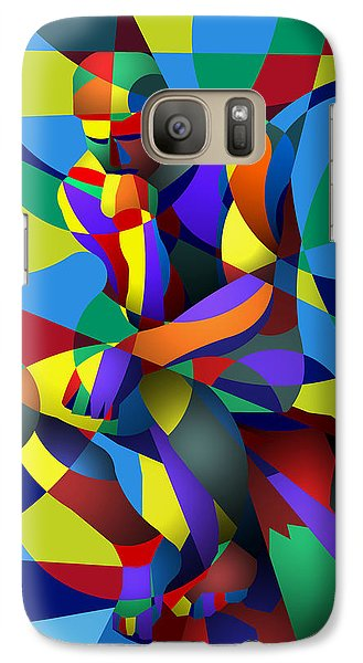 Galaxy Case featuring the digital art Randy's Rodin by Randall Henrie
