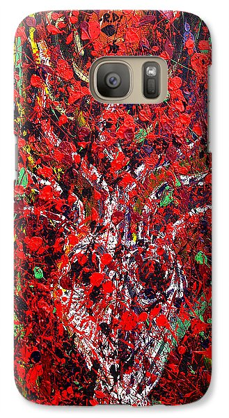 Galaxy Case featuring the painting Recurring Face by Ryan Demaree