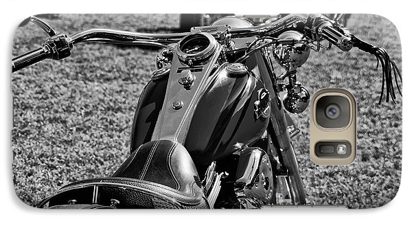 Galaxy Case featuring the photograph Red Harley Davidson by Wilma  Birdwell