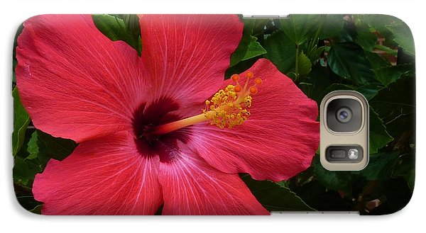 Galaxy Case featuring the photograph Red Hibiscus by Jeanette Oberholtzer