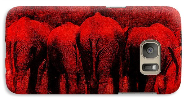 Galaxy Case featuring the photograph Red by James Bethanis