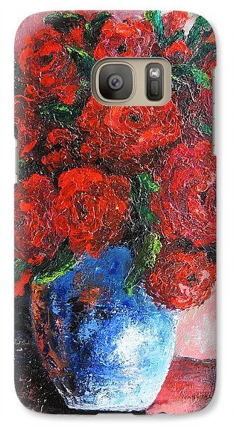 Galaxy Case featuring the painting Red Scent by Vesna Martinjak