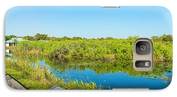 Anhinga Galaxy S7 Case - Reflection Of Trees In A Lake, Anhinga by Panoramic Images