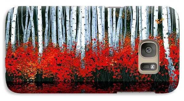 Galaxy Case featuring the painting Reflections - Sold by Michael Swanson