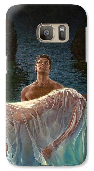 Galaxy Case featuring the painting Resurrection by Mia Tavonatti