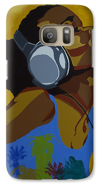 Galaxy Case featuring the painting Rhythms In The Sun by Rachel Natalie Rawlins