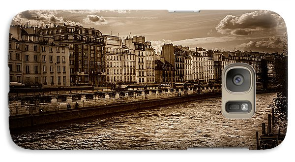 Galaxy Case featuring the photograph River Seine Paris by James Bethanis