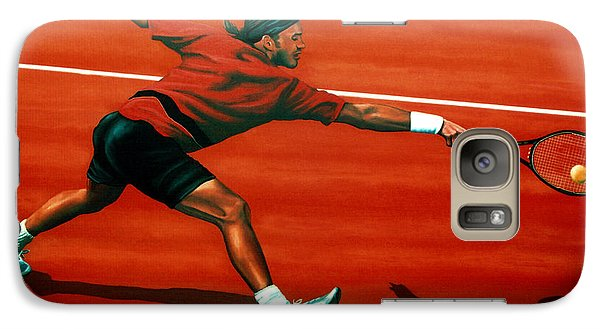 Roger Federer At Roland Garros Galaxy S7 Case by Paul Meijering