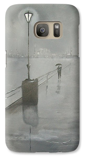 Galaxy Case featuring the painting Romantic Walk In The Rain by Raymond Doward