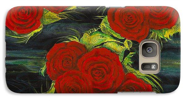 Galaxy Case featuring the painting Roses Floating by Cathy Long