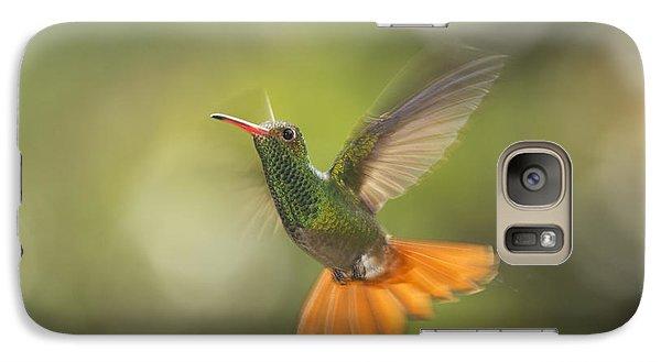 Galaxy Case featuring the photograph Rufous-tailed Hummingbird by Dan Suzio