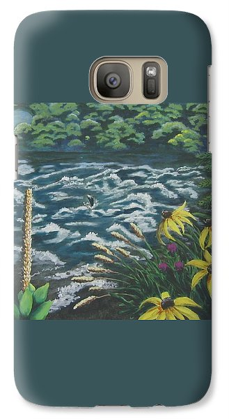 Galaxy Case featuring the painting Rushing Water by Suzanne Theis