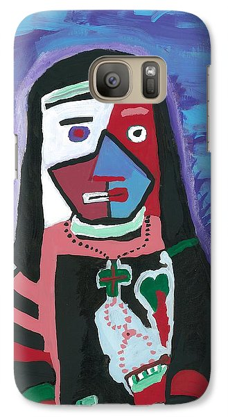 Galaxy Case featuring the painting Sad Nun by Don Koester