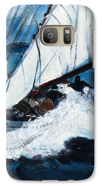 Galaxy Case featuring the painting Sailing by Betty Pieper