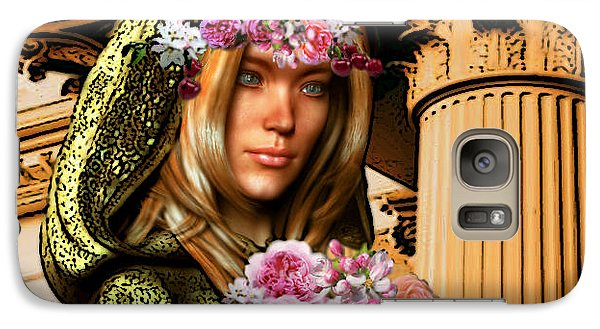 Galaxy Case featuring the painting Saint Dorothy Of Caesarea by Suzanne Silvir