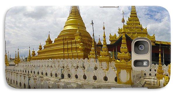 Galaxy Case featuring the photograph Sandamuni Pagoda Mandalay Burma by Ralph A  Ledergerber-Photography