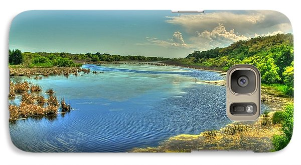 Galaxy Case featuring the photograph Sandpiper Pond by Ed Roberts