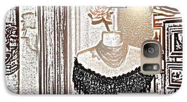 Galaxy Case featuring the digital art Santa Fe Dress Shop by Kathleen Stephens