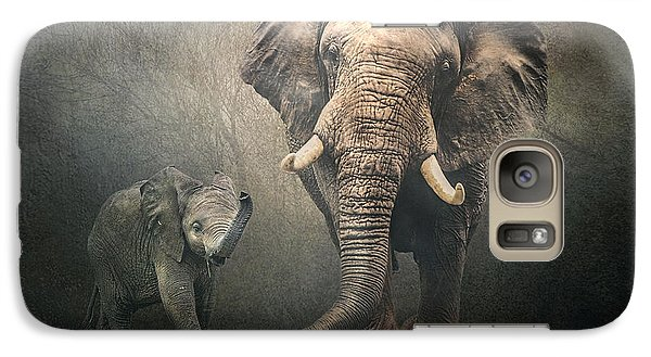 Galaxy Case featuring the photograph Save The Elephants by Brian Tarr