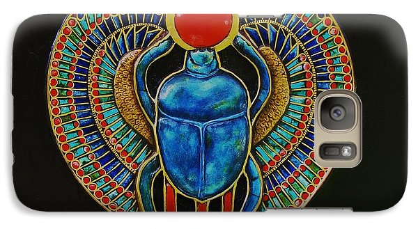 Galaxy Case featuring the painting Scarab by Joseph Sonday