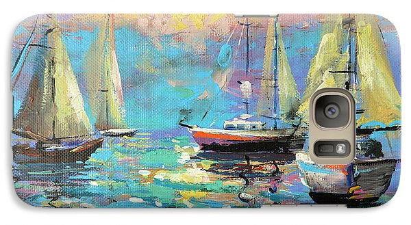 Galaxy Case featuring the painting Sea Breeze by Dmitry Spiros