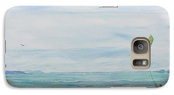Galaxy Case featuring the painting Seabreeze Beach by Cathy Long