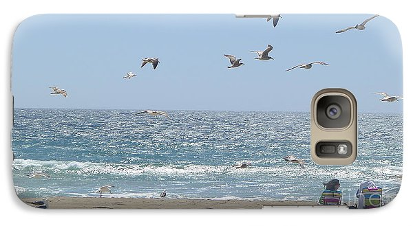 Galaxy Case featuring the photograph Seagulls by Nora Boghossian