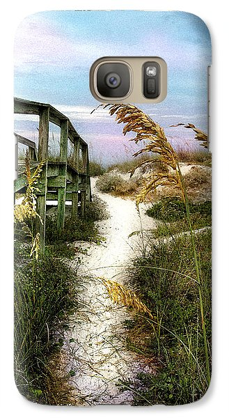 Galaxy Case featuring the photograph Seaoats Path by Linda Olsen