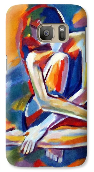 Galaxy Case featuring the painting Seated Figure by Helena Wierzbicki