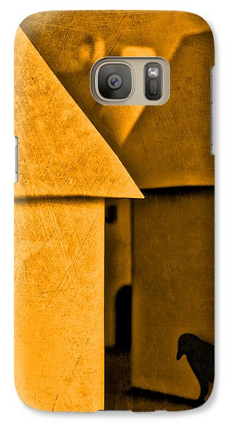 Galaxy Case featuring the photograph Shadow Of A Crow by Jeff  Gettis