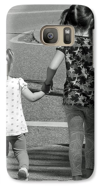 Galaxy Case featuring the photograph She's My Sister by E Faithe Lester