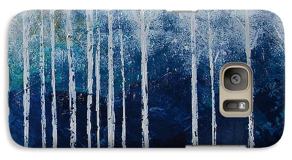 Galaxy Case featuring the painting Shivver by Linda Bailey