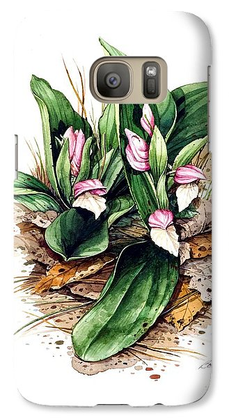 Galaxy Case featuring the painting Showy Orchis by Bob  George