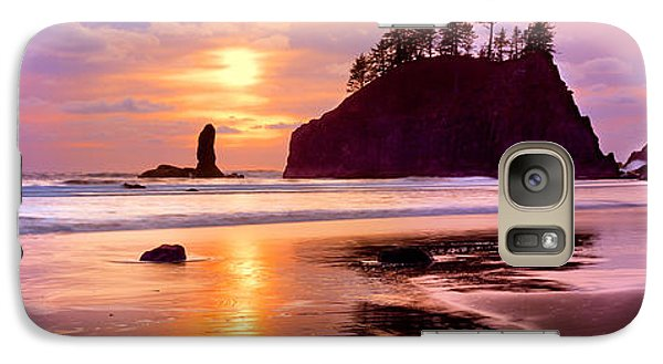 Silhouette Of Sea Stacks At Sunset Galaxy Case by Panoramic Images