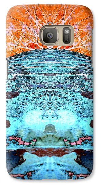 Galaxy Case featuring the photograph Silo Abstract by Karen Newell