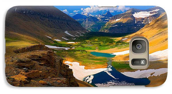Galaxy Case featuring the photograph Siyeh Pass by Aaron Whittemore