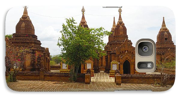 Galaxy Case featuring the photograph Smaller Temples Next To Dhammayazika Pagoda Built In 1196 By King Narapatisithu Bagan Burma by Ralph A  Ledergerber-Photography