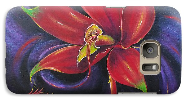 Galaxy Case featuring the painting Snap Dragon by S G