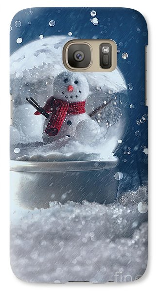 Galaxy Case featuring the photograph Snow Globe In A Snowy Winter Scene by Sandra Cunningham