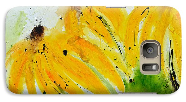 Galaxy Case featuring the painting Sonnenhut -  Floral Painting  by Ismeta Gruenwald