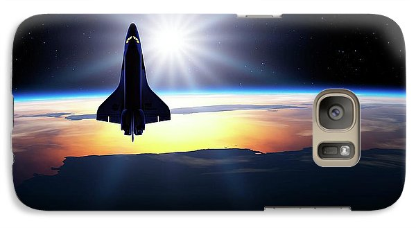 Space Ships Galaxy S7 Case - Space Shuttle In Orbit by Detlev Van Ravenswaay