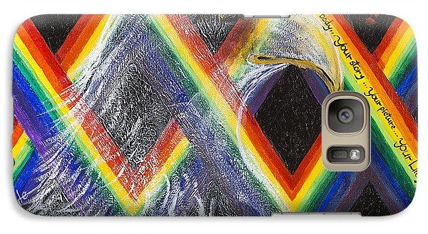 Galaxy Case featuring the painting Spirit Eagle by Cathy Long